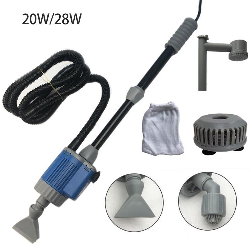 20/28W Elektrische Aquarium Aquarium Wasser Ändern Pumpe Reinigung Werkzeuge Wasser Wechsler Kies Reiniger Siphon Wasser Filter pumpe