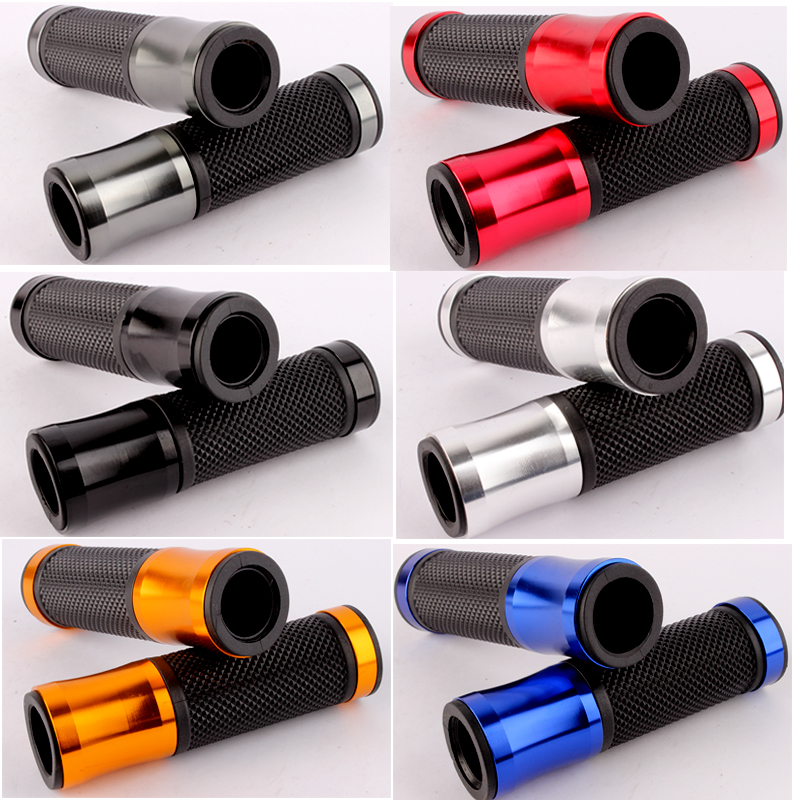 Universal 7/8 22MM CNC Motorcycle handlebar grip handle bar Motorbike handlebar grips 6 colors for option 1pair vintage motorcycle 7 8 22mm motorcycle handlebar grip handle bar motorbike handlebar grips motorcycle accessories