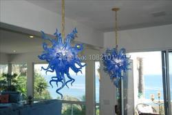 Modne nowoczesne ręcznie dmuchanego szkła nowoczesny kryształowy żyrandol w Oświetlenie sufitowe od Lampy i oświetlenie na