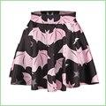 Moda 3D Digital Bat Chiroptera impresión Mini faldas de las muchachas mujeres falda de la extensión Pettiskirt faldas burbuja