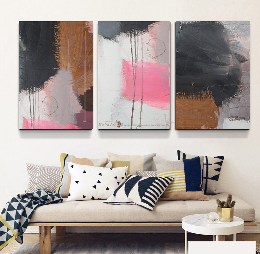 MUYA watercolor painting wall pictures decorative canvas paintings 3 ...