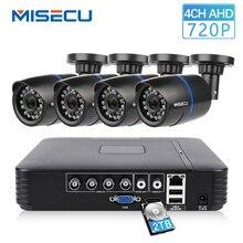 MISECU 4CH 720 P AHD DVR CCTV системы 1.0MP 1200TVL ИК Ночное Видение Крытый Открытый камера охранных товары теле и видеонаблюдения комплект