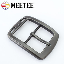 Meetee 38mm Mens Metal Brushed Pin Belt Buckle Head DIY Clothing Decoration Cowboy Leather Craft Hardware Accessories