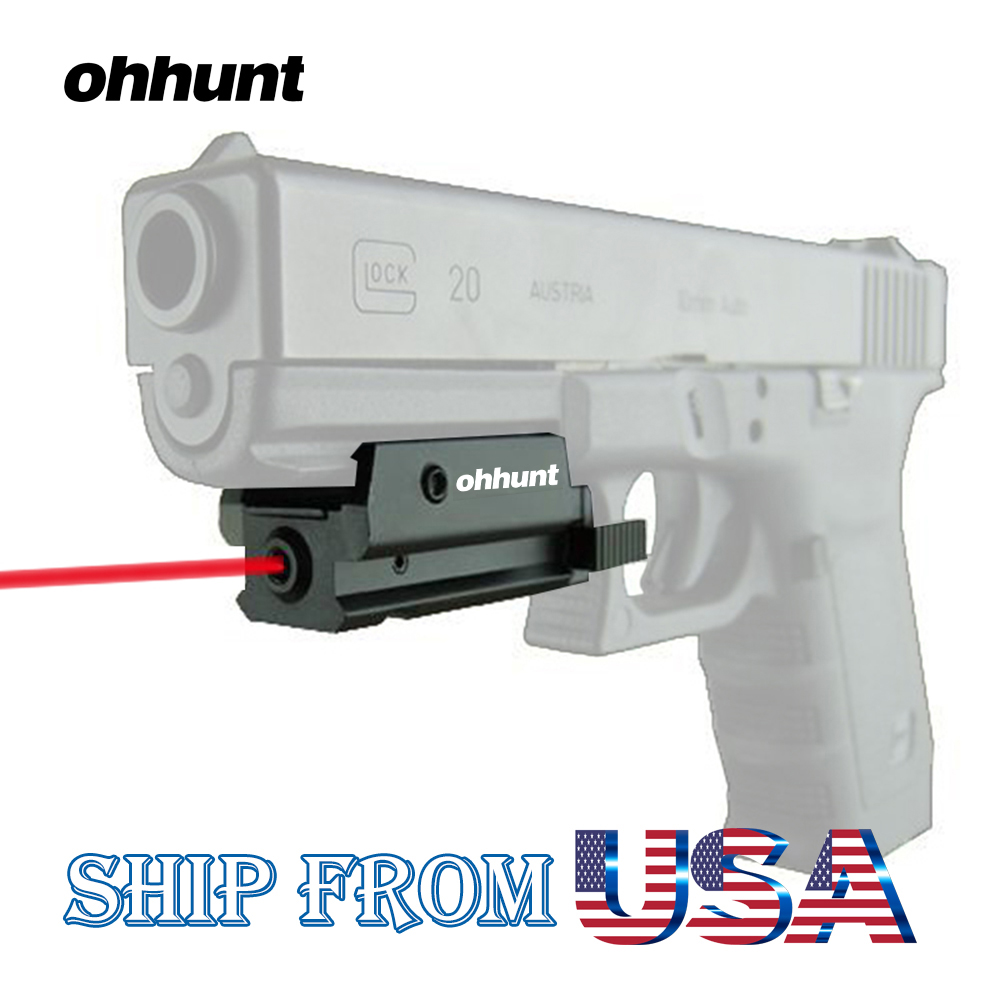 ohhunt Compact Hunting Tactical Red Dot Laser Sight Scope with Pressure Switch 20mm Picatinny Rail Mount for Most Pistol Rifles