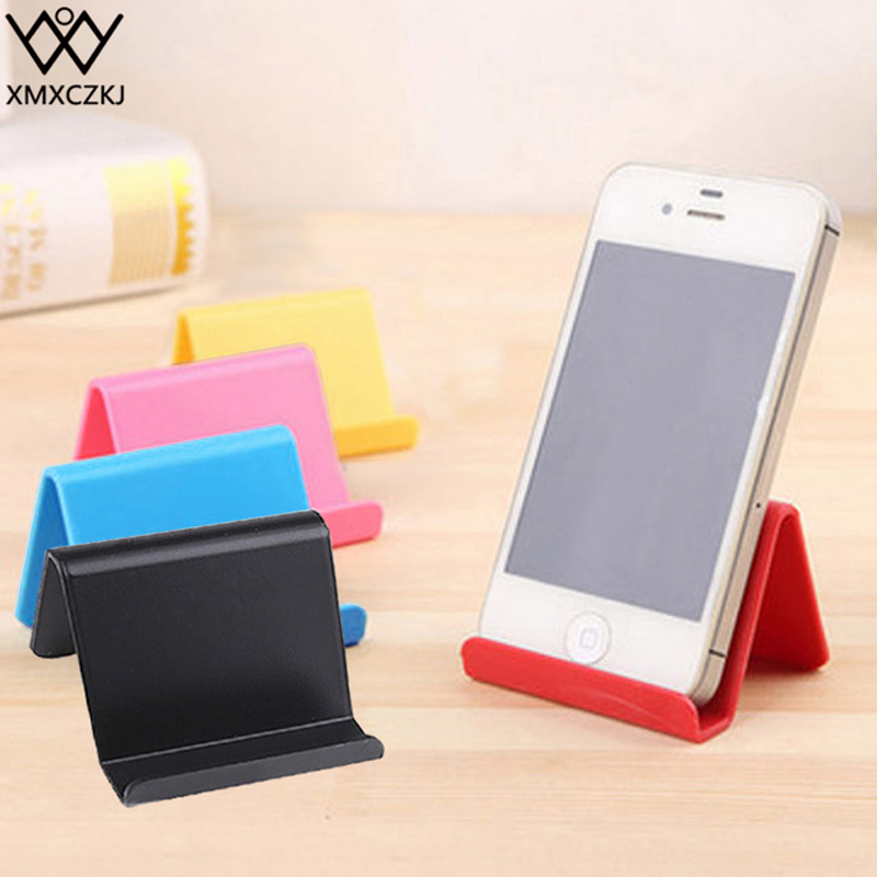 XMXCZKJ Universal Desktop Cell Mobile Phone Stand Candy Color Support For Smartphone Tablet Flexible Folding Desk Bracket Holder