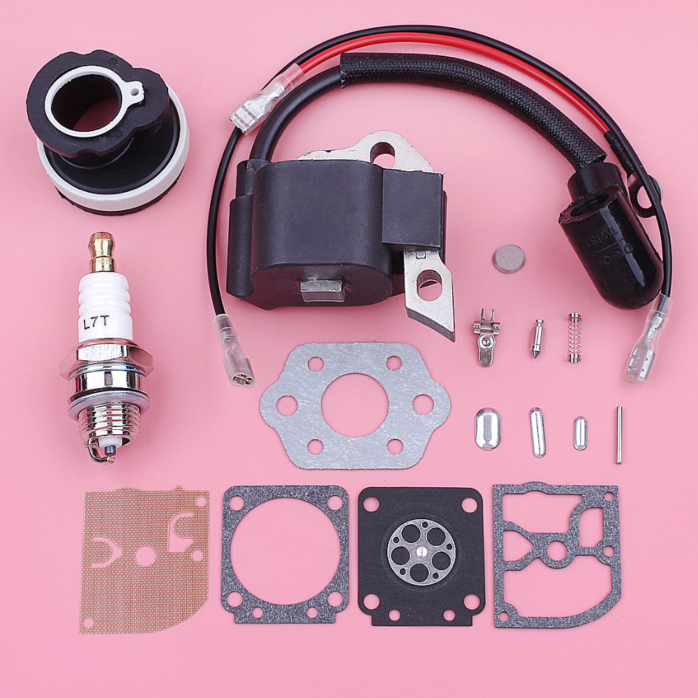 Bobina de Ignição Coletor de Admissão Kit de Reparo do Carburador para Stihl Diafragma ms 180 Motosserra 170 Spark Plug Ms180 018 Ms170 017