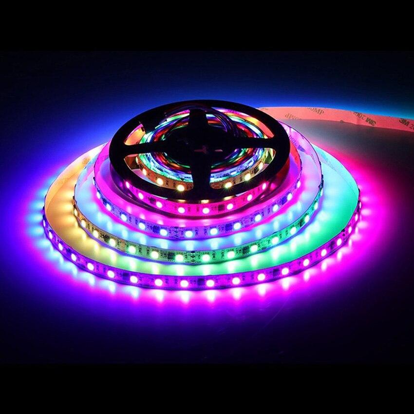 WS2811 led strip Light 5m 30/60 leds/m DC12V Dream Color 5050 RGB LED Tape Programmable Individual Addressable 2811 led strip