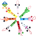 Toy Woo Whistle Wooden Colorful Cartoon Animal Whistle Early Music Education For 1~3 Years Old Children