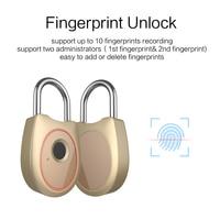 Serratura della porta Serratura Intelligente Keyless FingerMark Ricaricabile IP65 Impermeabile Anti-Furto di Sicurezza Lucchetto Porta Bagagli Caso di Blocco