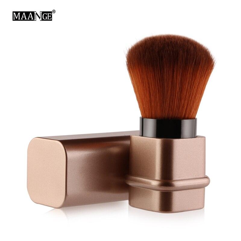 MAANGE 1pc Portable Square adjustable blush brush Cosmetic Brush Gold Sliver Color Make Up Beauty Tools maquiagem