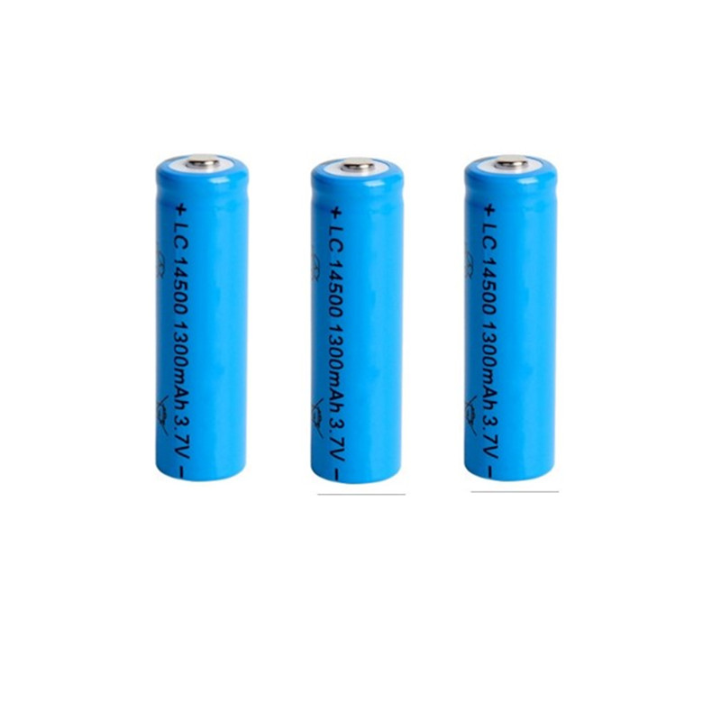 3PCS/LOT super fire AA <font><b>14500</b></font> 1300mah 3.7 V lithium <font><b>ion</b></font> rechargeable batteries and LED flashlight free shipping image