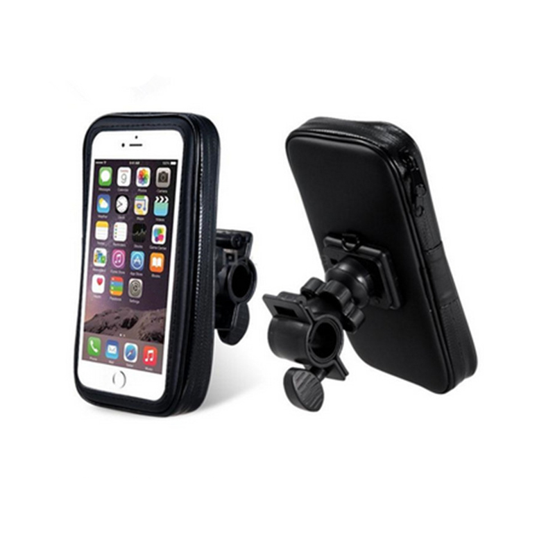 Universal Motorcycle Bicycle phone holder For iPhone 7 Samsung S8 LANZERO Support Mobile Phone Stand With Waterproof Case Bag