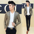 Men Flower Blazer Luxury Gold Blazer Chaqueta Traje Hombre Spring Autumn Club Outfit  Blazer Homens Floral Blazer Men Gold