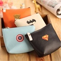Baby Boys Kids Superhero Batman Mini Coin Purses Cartoon PU leather Coin Wallet Key Bag Holders Money Wallet For Girls Gift