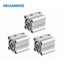 NBSANMINSE CQ2B 12mm Bore Compact Cylinder Double Acting Pneumatic ISO Air Cylinder Automation Parts цена 2017