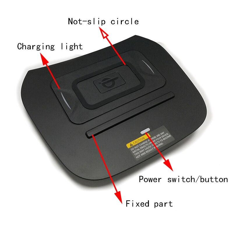 10W voiture QI chargeur sans fil chargeur mobile charge rapide support pour téléphone accessoires pour Hyundai IX45 Santa Fe 2015 2016 2017 2018 - 6