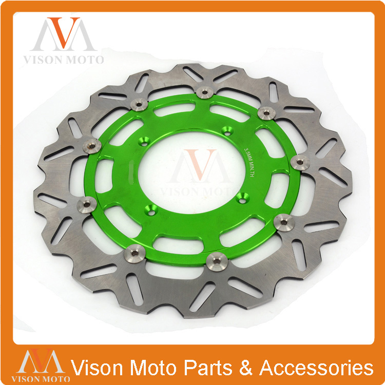 320MM Front Wavy Floating Brake Disc Rotor For KX125 KX250 KX250F KX450F KLX450 KX KXF KLX Supermoto Motard keoghs motorcycle brake disc brake rotor floating 260mm 82mm diameter cnc for yamaha scooter bws cygnus front disc replace