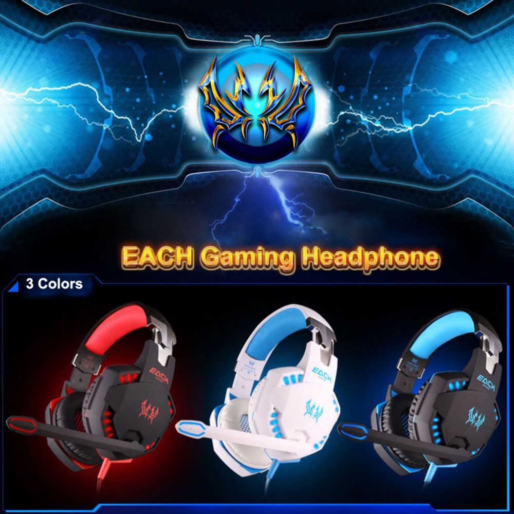 EACH G2100 Gaming Headset Stereo Sound 2.2m Wired Headband Headphone Noise Reduction Hidden Microphone Vibration for PC Game PS3 никита аверин метро 2033 крым 3 пепел империй