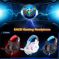 Brand New EACH G2100 Gaming Wired Noise Cancelling Vibration Headset With Mic Stereo Bass LED Light