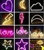 Lightning Neon Light Led Night Lamp USB Battery Wall Light Decor For Festival Bedroom Gifts For
