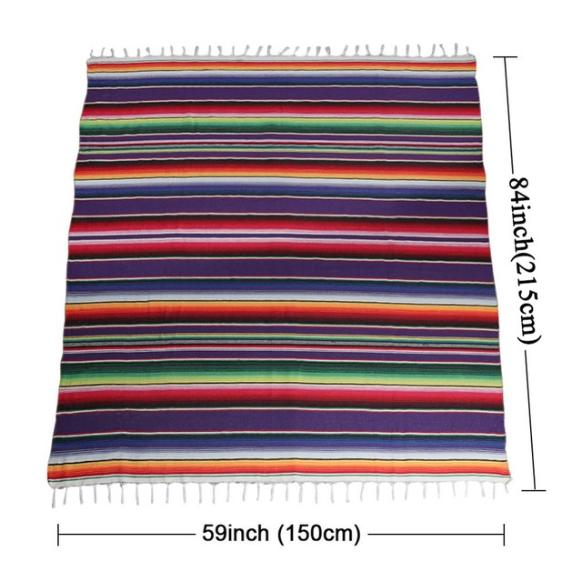 Colorful Striped Cotton Tablecloth