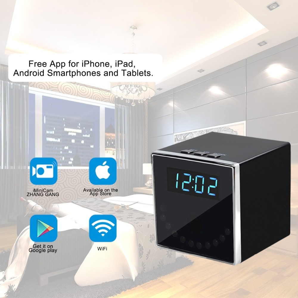2017 NEW Clock Model 140 degrees 1080P WIFI IP IR Night Vision Mini camera DVR CAM Support IOS Android Remote