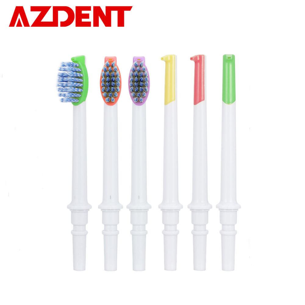New Oral Irrigator Tips Water Dental Flosser Nozzles Floss Water Jet Replacement Toothbrush Heads Tooth Cleaner AZDENT WP-188 image