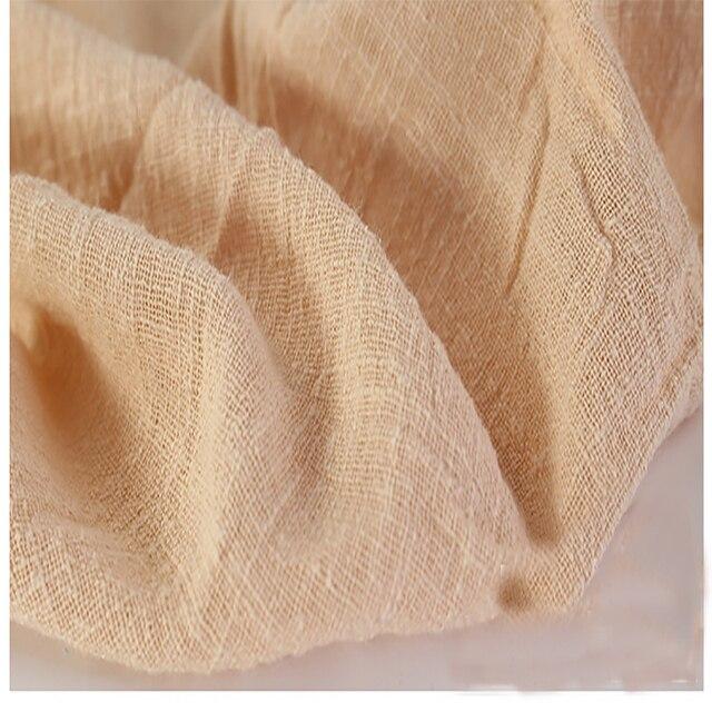 Weiche Leinen Baumwolle Material Apricot Crincle Falten Tissue