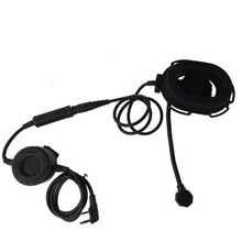2016 New HD03 Z Tactical Bowman Elite II Radio Headset Earpiece with waterproof PTT cable for Portable Radio 2 Pin free shipping