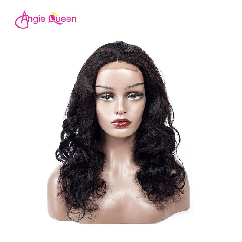 ANGIE QUEEN Brazilian Hair Body Wave Human Hair Wigs 4*4 Lace Closure Wigs Remy Hair 120/130/150% Lace Closure Wigs