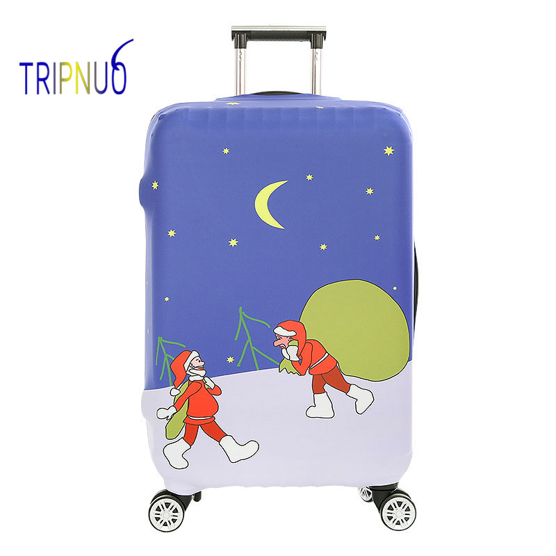 TRIPNUO упругие красный Санта Клаус Чемодан чехол для 19-32 дюймов тележка толстый чемодан защиты пыли Чехол дорожные аксессуары