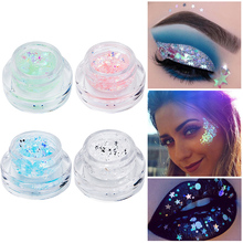 Glitter Sequins Woman Make up Shiny Heart Star