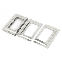 Post Office Library File Drawer Metal Tag Label Holder, Silver Tone, 10 Pieces