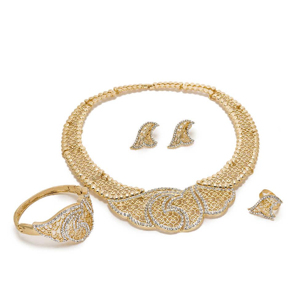 MUKUN, conjuntos de joyería africanos de moda exquisita de Dubái, Color dorado de lujo, grandes cuentas de boda nigeriana, conjuntos de joyería para boda, traje para mujer