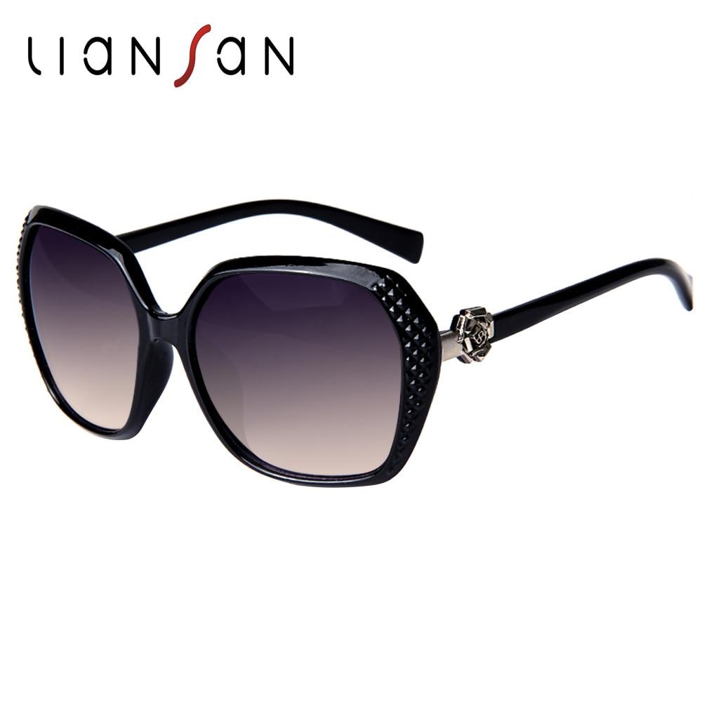 549806ed5c236 LianSan Vintage Retro Square Oversized Plastic Sunglasses Women Luxury  Brand Designer Fashion Pink Black Brown LSPZBJ5041