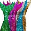 2016 Carácter Oferta Mujeres Niños de Algodón Poliéster Novedad Nuevo Otoño de Los Niños de La Sirena de Natación Aletas de Cola Con Escalas