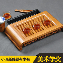Pequeño Kong Ming Sabiduría * Bamboo Gongfu Tabla de Té bandeja de la Porción 40*22 cm De Bambú Mesa de Té chino juego de té de bambú bandeja de té de agua