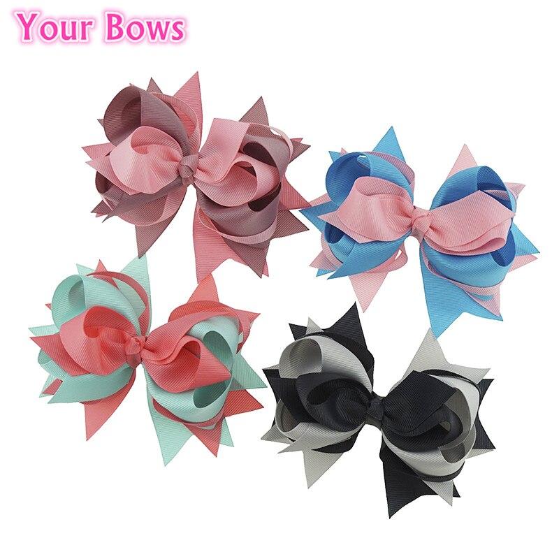 1PC 5.5Inches Girls Hair Clips Cute   Headwear   Bowknot Hairpins Boutique Hair Bows Girl Hair Accessories