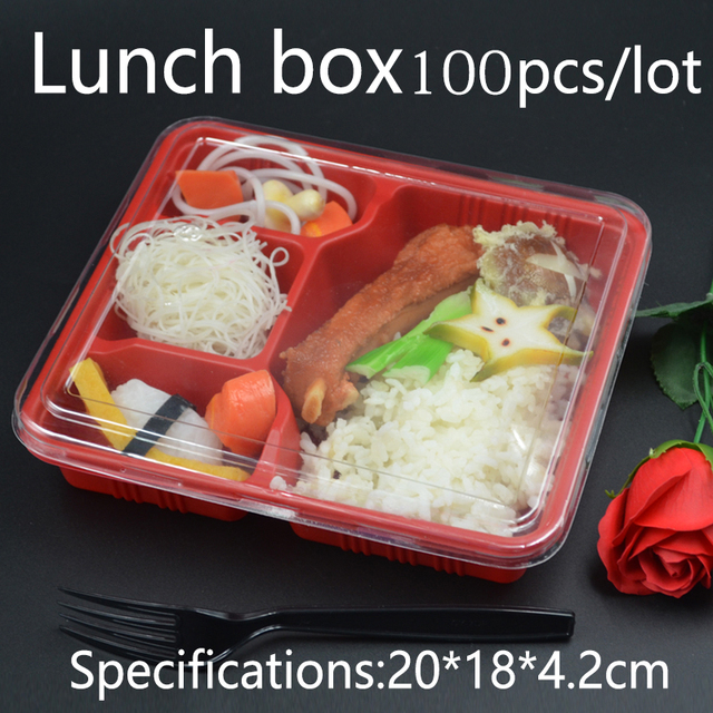Food Box Meal Prep Box with Lid Compartment Meal Prep Containers