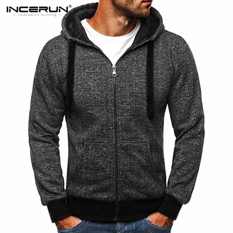 Men's Hoodies Sweatshirts Long Sleeve Cotton Hoodie Men Hooded Casual Sweatshirt Masculino Solid Hombre Fashion Zipper Coat