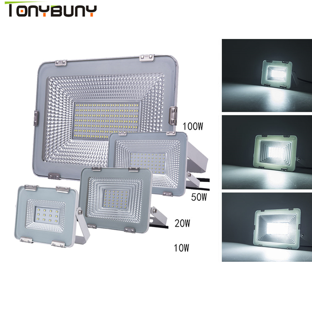 High effect Led Floodlight 10W 20W 100W 50W Outdoor SMD Flood Light AC 220V 240V Waterproof IP65 Professional Lighting Lamp
