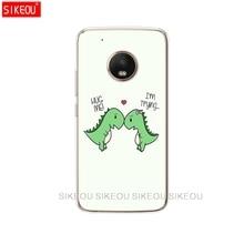 Silicone Case Phone Cover Motorola Moto G6 G5 G5s Z2 Play Plus X4 C Animal Dinosaur
