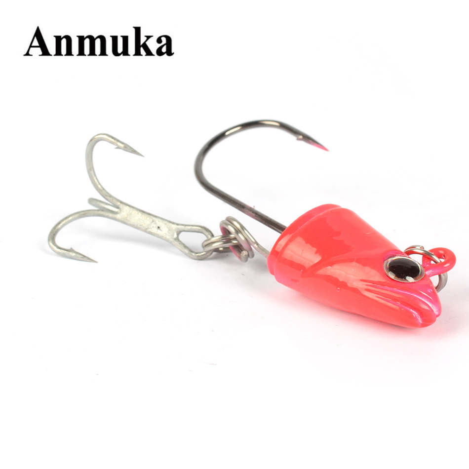 Anmuka 30g40g 50g60g fishing lure fishing tackle lead head for How to make fishing hooks