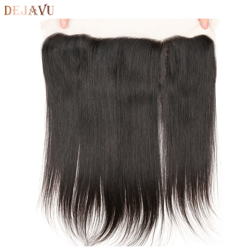 Dejavu Brazilian Straight Hair Lace Frontal Closure 13x4 Swiss Lace Ear To Ear Remy Human Hair Closure Free Shipping