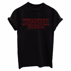 Новое поступление, футболка, женская футболка с дизайном «странные вещи», женская футболка с надписью «s Look for the Upside Down», топы с короткими рук...
