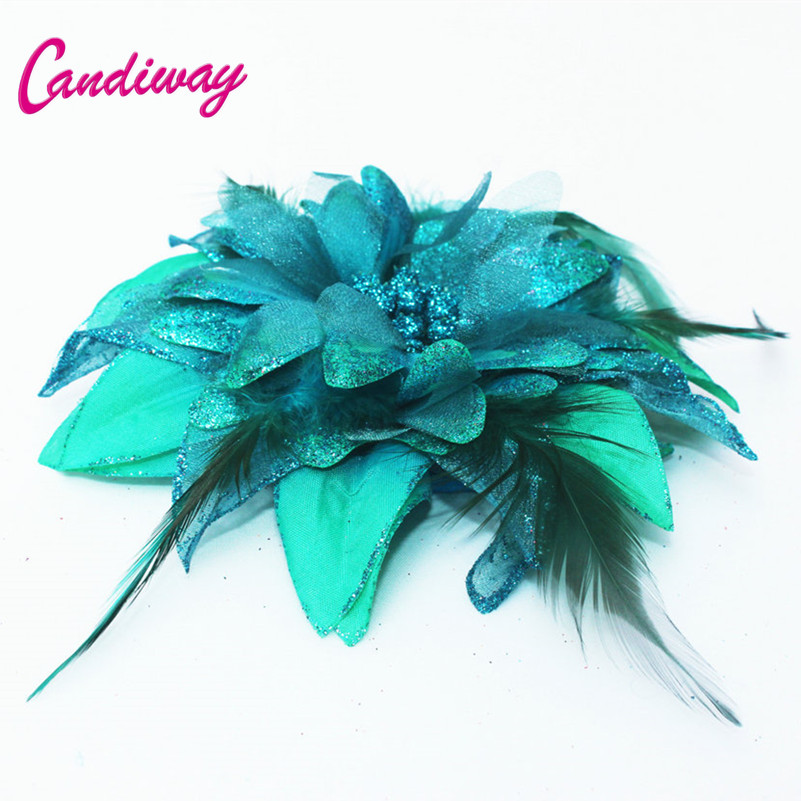 New Arrival Dark Green Hair Ornaments Headwear Flower Women Fashion Hairpins Hair Clip For Girls Hair Headdress Accessories