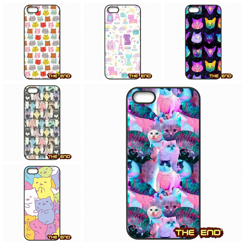 Colorful cat Cats Wallpaper Pattern Phone Cases Covers For Sony Xperia M2 M4 M5 C C3 C4 C5 T3 E4 Z Z1 Z2 Z3 Z3 Z4 Z5 Compact