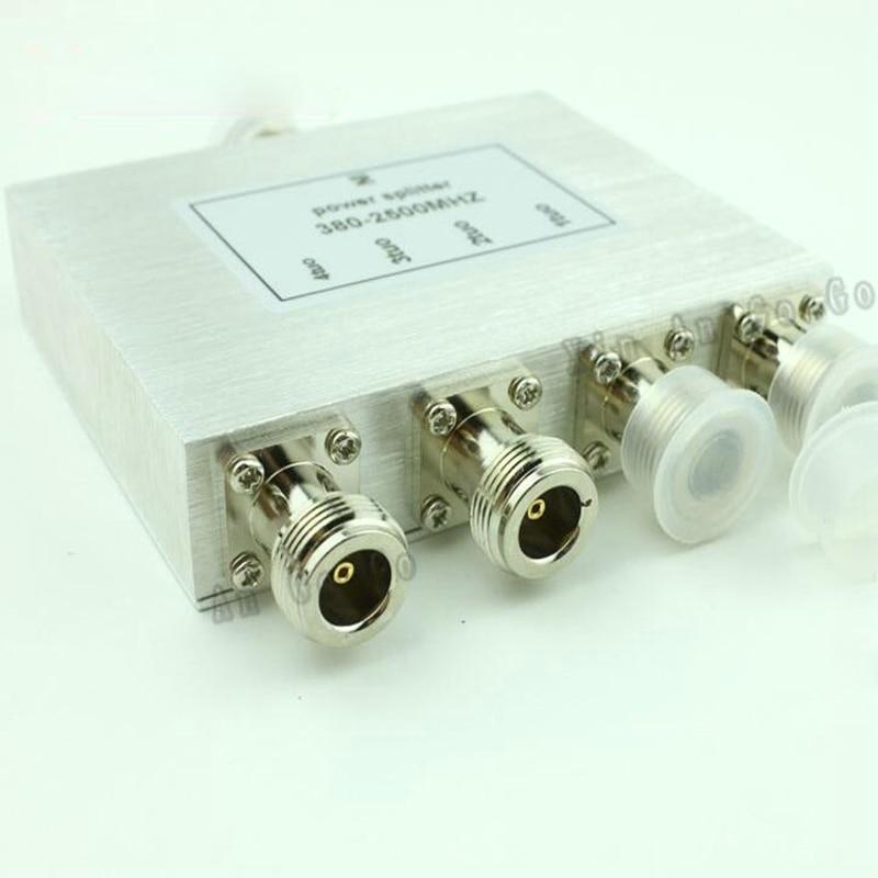 New 4 Way N Power Splitter 380mhz~2500MHz,N female power divider signal cable splitter female divider Free shipping