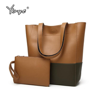 YBYT Brand 2017 New Women Vintage Casual PU Leather Composite Bags Ladies Top Handle Pack Shopping