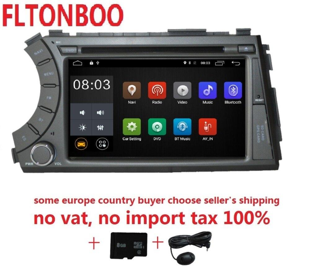 7 pouce Android 8.1 pour ssangyong Kyron Actyon 2din voiture dvd, gps wifi, radio, bluetooth, volant, livraison 8g carte, micro, écran tactile